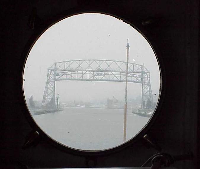 Shot from a porthole